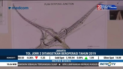 Tol JORR 2 Ditargetkan Beroperasi 2019