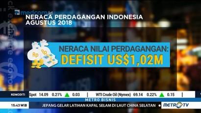Neraca Perdagangan Defisit USD1,02 Miliar di Agustus 2018