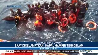 Puluhan Imigran Nyaris Tenggelam di Perairan Mediterania