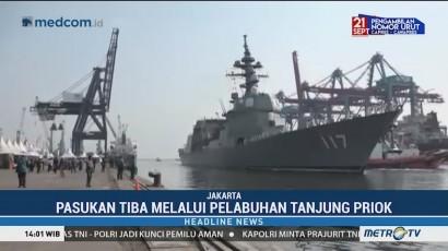 3 Kapal Perang Jepang Bersandar di Tanjung Priok
