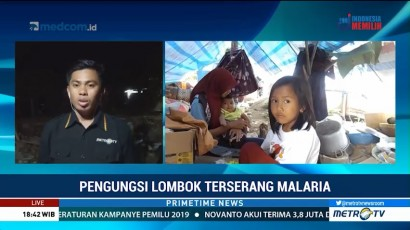 Korban Gempa Lombok Terserang Malaria Akibat Tenda yang Tak Layak