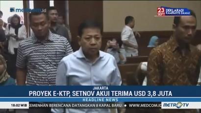 Setya Novanto Akui Terima USD3,8 Juta dari Proyek KTP-el