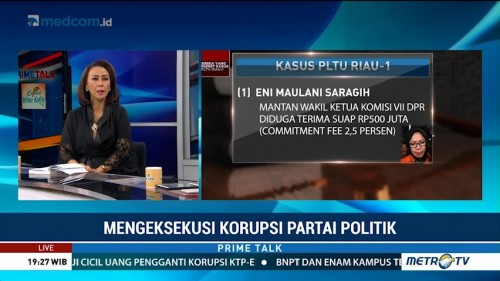 KPK Kesulitan Menjerat Parpol Penerima Dana Korupsi