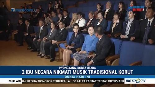 Ibu Negara Korut dan Korsel Nikmati Pertunjukan Musik