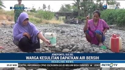 Sumur Kering, Warga Jeneponto Sulit Dapatkan Air bersih