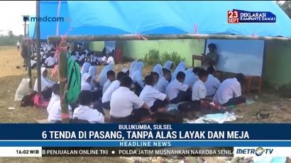Sekolah Disegel, Siswa SMPN 22 Bulukumba Belajar di Tenda