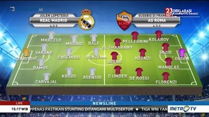 Tanpa Ronaldo, Ini Perkiraan Formasi Real Madrid Jamu AS Roma