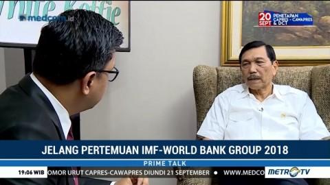 Menko Luhut Bicara Persiapan Annual Meeting IMF-World Bank Group