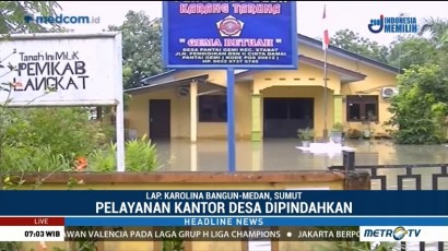 Pelayanan Kantor Desa di Langkat Dipindahkan Akibat Banjir