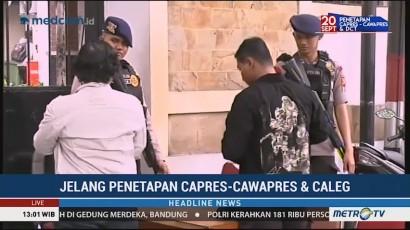 Pengamanan KPU Diperketat Jelang Penetapan Capres-Cawapres