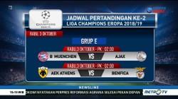 Jadwal Pertandingan Kedua Liga Champions Minggu Depan