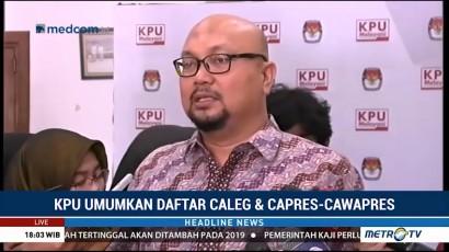 KPU Coret Dua Nama dari Daftar Caleg DPD