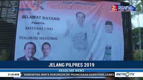 Relawan Nusantara Deklarasi Dukung Jokowi-Ma'ruf