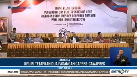 KPU Resmi Tetapkan Dua Pasangan Capres-Cawapres Pemilu 2019
