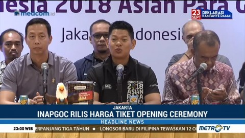 Penjualan Tiket OC Asian Para Games 2018 Dibuka