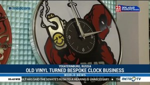 Old Vinyl Turned Bespoke Clock Business