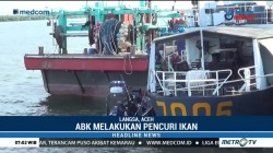 Petugas Tangkap Kapal Asing Berbendera Myanmar di Perairan Aceh Timur