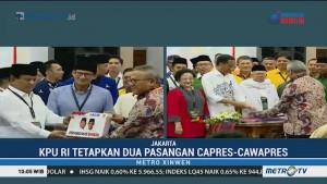 KPU Tetapkan Jokowi-Ma'ruf dan Prabowo-Sandi sebagai Capres-Cawapres