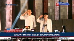 Jokowi-Ma'ruf Disambut Indonesia Raya, Doa dan <i>Flash Mob</i>