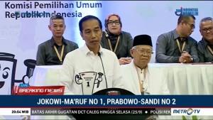 Dapat Nomor 01, Jokowi: Yang Diperebutkan Memang RI-1