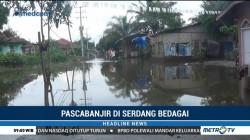 Banjir di Serdang Bedagai Mulai Surut
