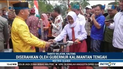 Pemkab Barito Selatan Beri Ratusan Sepeda untuk Siswa di Pedalaman