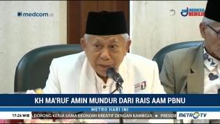 Ma'ruf Amin Mengundurkan Diri dari Jabatan Rais Aam PBNU