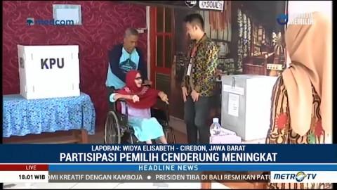 Partisipasi Pemilih saat Pencoblosan Ulang Pilwalkot Cirebon