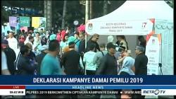Warga Bandung Antusias Ikuti Deklarasi Kampanye Damai
