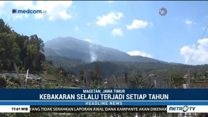 Titik Api Kembali Muncul di Gunung Lawu