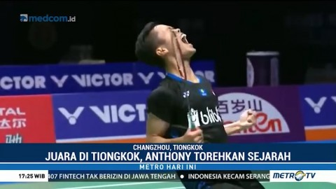 Rebut Juara Tiongkok Terbuka 2018, Anthony Ginting Torehkan
