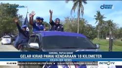 Pawai Kendaraan Ramaikan Kampanye Serentak di Sorong