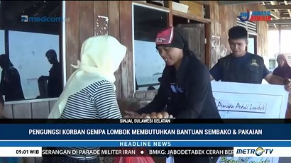 Korban Gempa Lombok di Sinjai Butuh Bantuan Sembako dan Pakaian