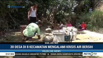 Delapan Kecamatan di Ngawi Kekeringan
