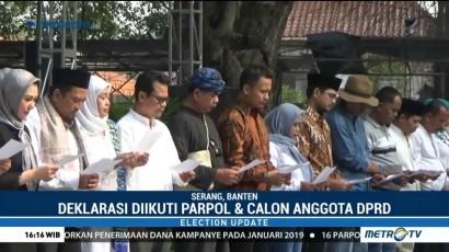 KPU Banten Gelar Deklarasi Kampanye Damai Pemilu 2019