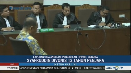Syafruddin Arsyad Temenggung Divonis 13 Tahun Penjara