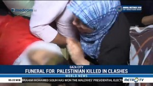 Funeral for Palestinian Killed in Clashes