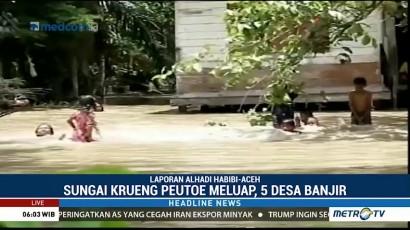 Lima Desa di Lhoksukon Terendam Banjir