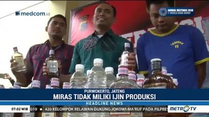 Polres Banyumas Bongkar Praktik Penjualan Miras Palsu