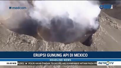 Gunung Popocatepetl di Meksiko Kembali Erupsi