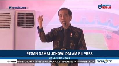 Jokowi Imbau Masyarakat Jaga Persatuan di Tahun Politik