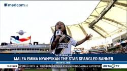 Penyanyi Cilik Keturunan Indonesia Pukau Stadion LA Galaxy