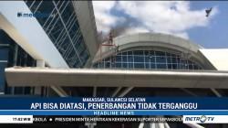 Asap Hitam Terlihat di Atap Bandara Sultan Hasanuddin