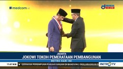 Jokowi Dianugerahi Penghargaan Tokoh Pemerataan Pembangunan