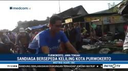 Sandiaga Bersepeda Keliling Kota Purwokerto