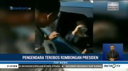 Seorang Pengendara Diamankan Polisi Karena Terobos Rombongan RI 1