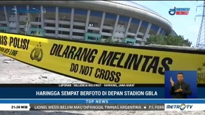 Haringga Sempat Berfoto di Depan Stadion Sebelum Dikeroyok