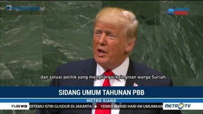 Trump Soroti Serangan Senjata Kimia Suriah di Sidang Umum PBB