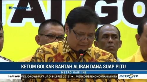 Ketum Golkar Tegaskan Tak Terlibat Kasus Suap PLTU Riau-1