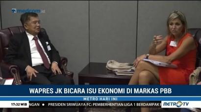 Jusuf Kalla Bicara Isu Ekonomi di Markas PBB